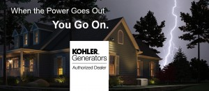 Keep cooking with your new Kohler Generator.