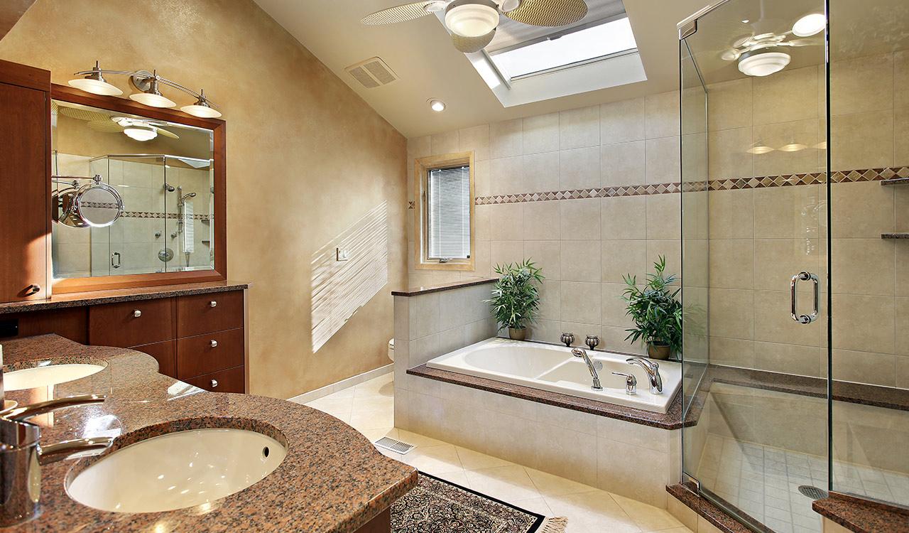 Beautiful custom design build bathroom installations.